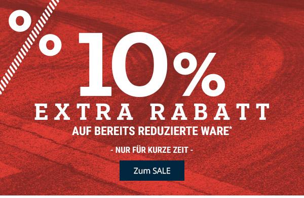 10% Extrarabatt auf reduzierte Schuhe und Textilien bei