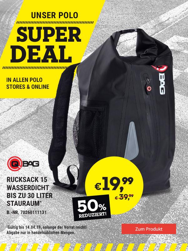 Super DEAL: Qbag Rucksack wasserdicht nur € 19,99