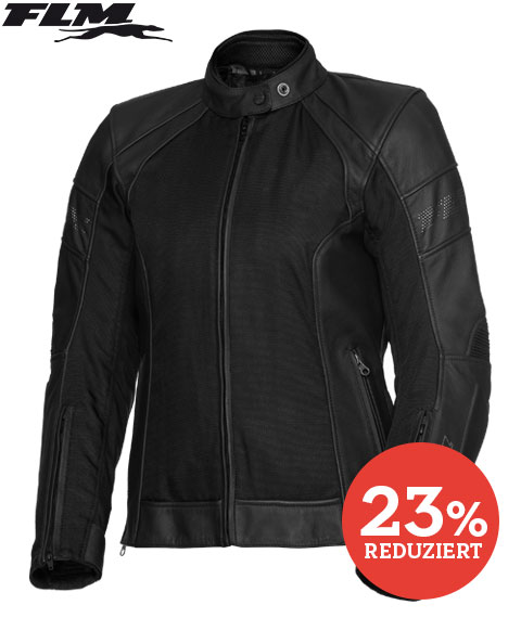 FLM Touren Damen Leder-/ Textiljacke 3.0 schwarz