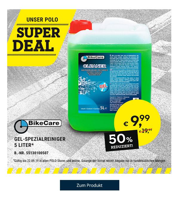 Super DEAL: BikeCare Gel-Spezialreiniger 5 Liter nur € 9,99